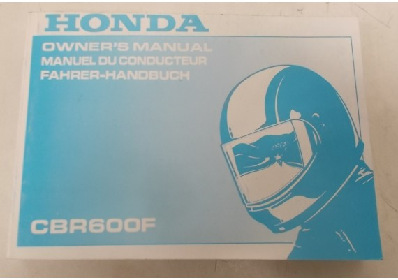 Owners Manual CBR 600 F 1995 Engels/Frans/Duits 00X37-MAL-6100