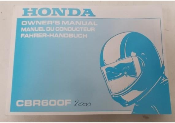 Owners Manual CBR 600 F 1999 Engels/Frans/Duits 00X37-MBW-6101