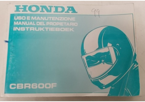 Owners Manual CBR 600 F 1999 Nederlands/Frans/Italiaans 00X37-MBW-8101