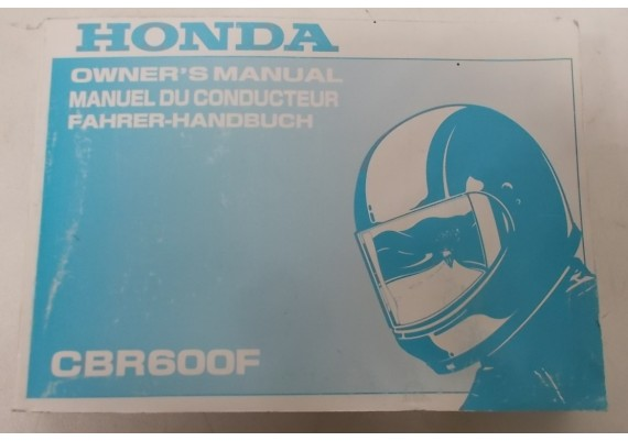 Owners Manual CBR 600 F 2000 Engels/Frans/Duits 00X37-MBW-6300