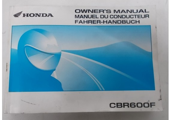 Owners Manual CBR 600 F 2001 Engels/Frans/Duits 00X37-MBW-6300