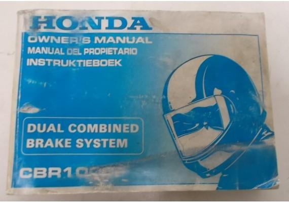 Owners Manual CBR 1000 F 1992 Nederlands/Engels/Frans 00X37-MZ2-6000