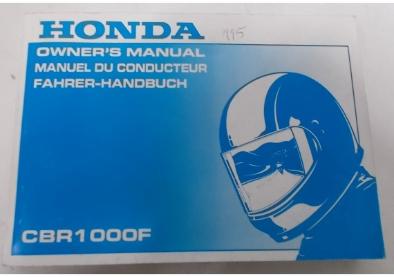 Owners Manual CBR 1000 F 1995 Engels/Frans/Duits 00X37-MZ2-6300