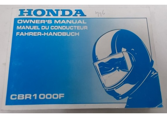 Owners Manual CBR 1000 F 1996 Engels/Frans/Duits 00X37-MZ2-6400