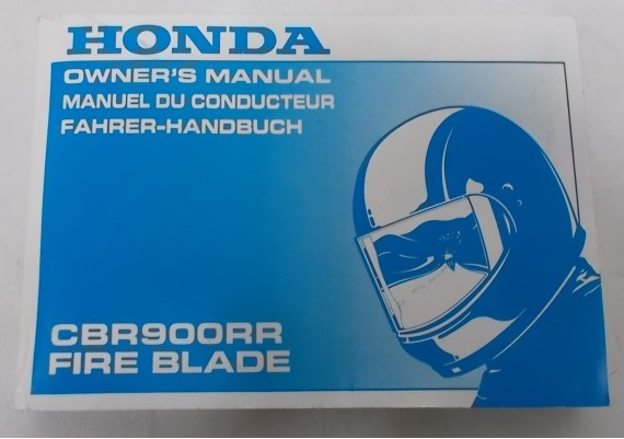 Owners Manual CBR 900 RR 1995 Engels/Frans/Duits 00X37-MAS-6000