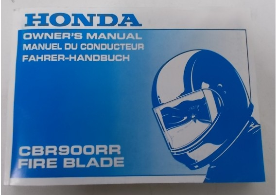 Owners Manual CBR 900 RR 1995 Engels/Frans/Duits 00X37-MAS-6002