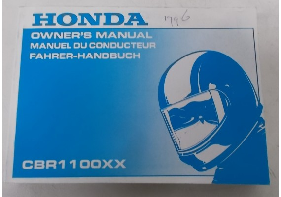 Owners Manual CBR 1100 XX 1996 Engels/Frans/Duits 00X37-MAT-6000