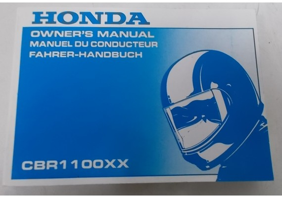 Owners Manual CBR 1100 XX 1996 Ebgels/Frans/Duits 00X37-MAT-6010