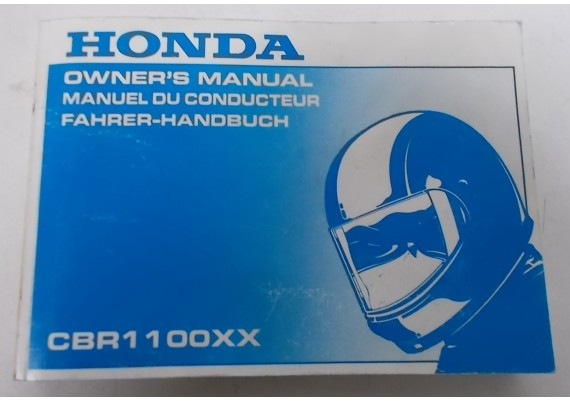 Owners Manual CBR 1100 XX 1998 Engels/Frans/Duits 00X37-MAT-6200