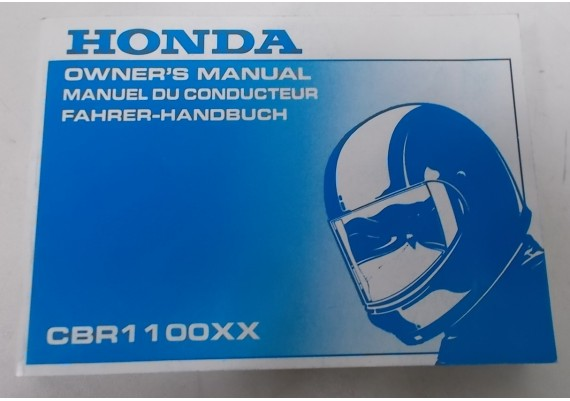 Owners Manual CBR 1100 XX 1998 Engels/Frans/Duits 00X37-MAT-6201