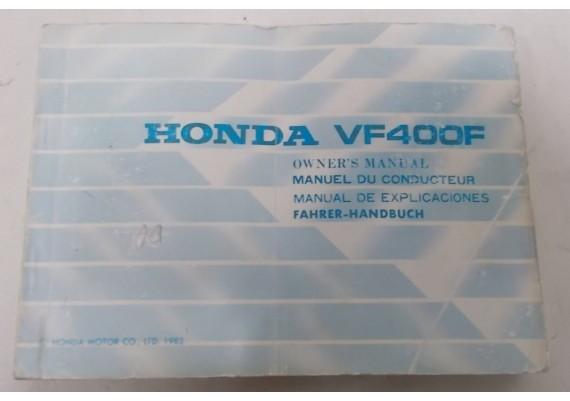 Owners Manual VF 400 F 1983 Engels/Frans/Duits 00X36-KE7-6000