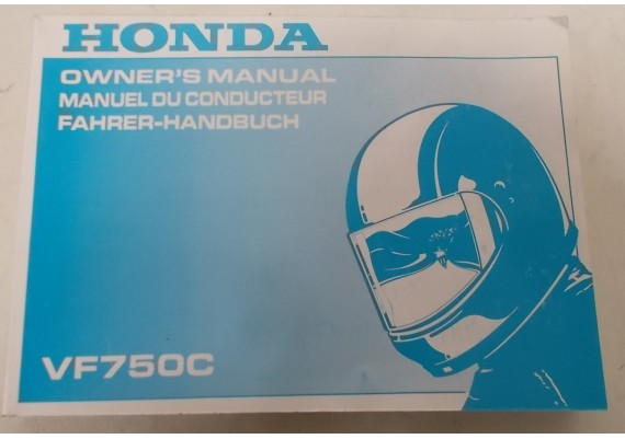 Owners Manual VF 750 C 1994 Engels/Frans/Duits 00X37-MZ5-6201
