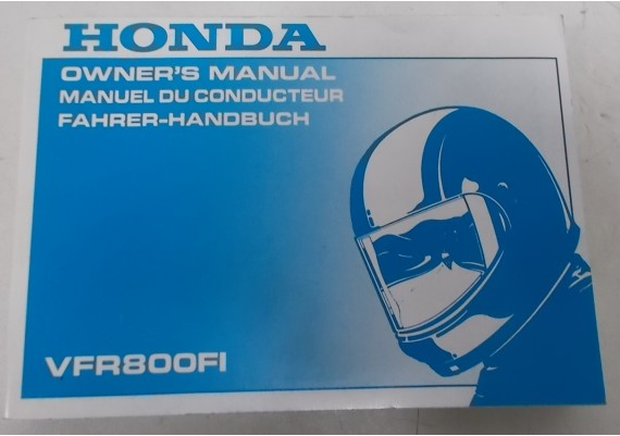 Owners Manual VFR 800 Fi 1997 Engels/Frans/Duits 00X37-MBG-6000