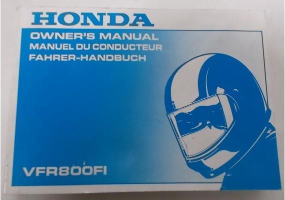 Owners Manual VFR 800 Fi 1997 Engels/Frans/Duits 00X37-MBG-6001