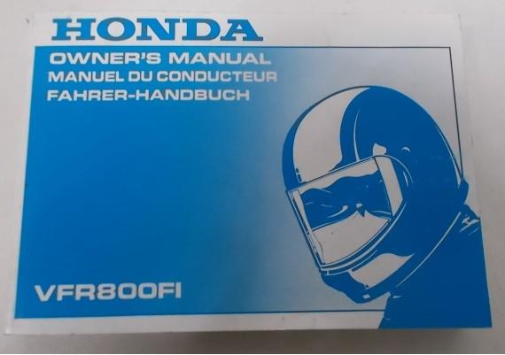 Owners Manual VFR 800 Fi 1997 Engels/Frans/Duits 00X37-MBG-6010