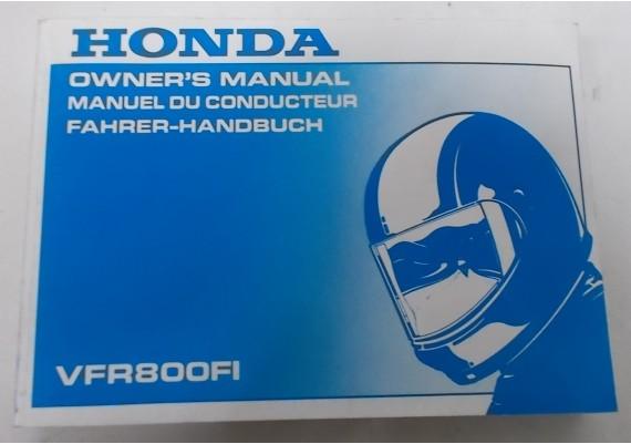 Owners Manual VFR 800 Fi 1998 Engels/Frans/Duits 00X37-MBG-6100