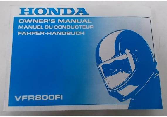 Owners Manual VFR 800 Fi 2000 Engels/Frans/Duits 00X37-MBG-6300