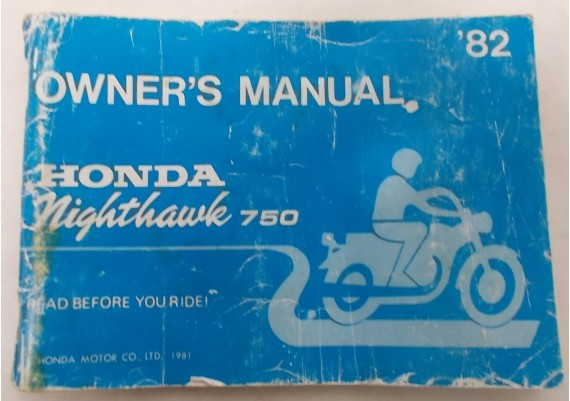 Owners Manual CB 750 SC Nighthawk 1982 31ME100