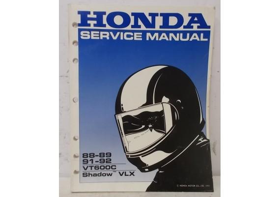 Service Manual VT600C Shadow / VLX 600 Shadow Engels 1988-1989 / 1991-1992 61MR103 18009107JKMN (1991)