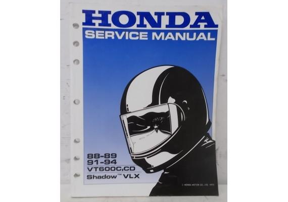 Service Manual VT600C,CD Shadow / VLX 600 Shadow Engels 1988-1989 / 1991-1994 61MR106 A20009307JKMNPR (1993)