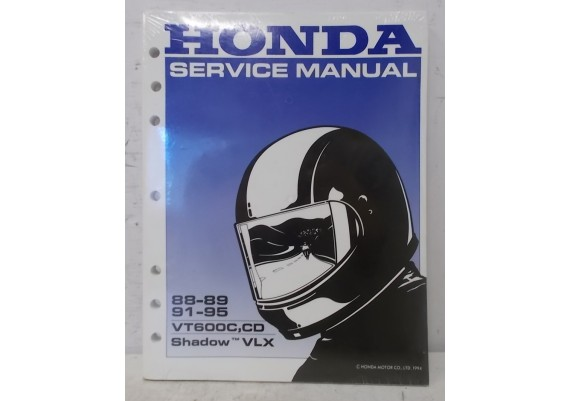 Service Manual VT600C,CD Shjadow / VLX 600 Shadow Engels 1988-1989 / 1991-1995 61MR106 A20009406JKMNPR (1994)