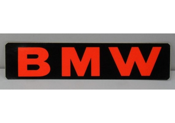 Sticker BMW zwart/oranje