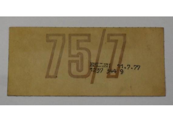Sticker BMW R75 5114 1 240 019